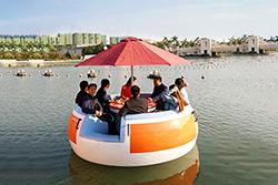 圆型休闲船